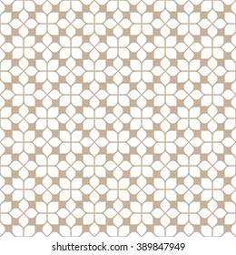 Beige seamless flower pattern in oriental style. Vector background