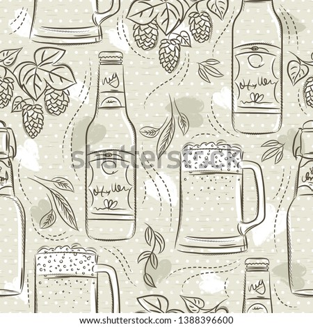 beige-seamless-patterns-set-beer-450w-13
