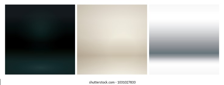 Beige studio lighting. Soft neutral 3d studio background set. Deep black matte studio background.  Warm soft light gold studio lighting. Pool white background. Photostudio soft box neutral lighting.