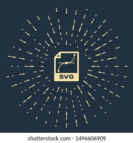 Beige SVG file document. Download svg button icon isolated on dark blue background. SVG file symbol. Abstract circle random dots. Vector Illustration