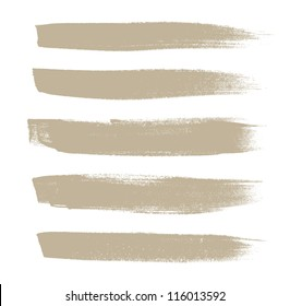 Beige vector brush strokes collection