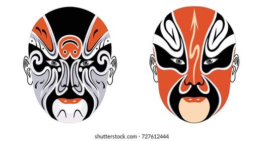 Beijing opera mask of ancient people