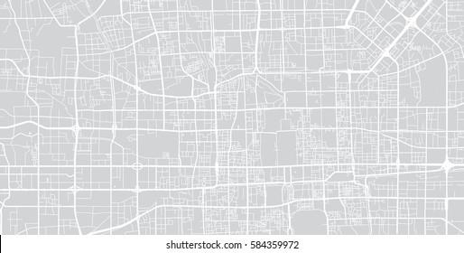 Beijing vector city street map