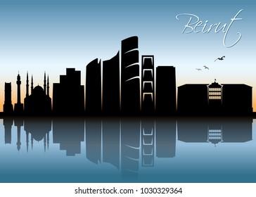Beirut skyline - Lebanon - vector illustration