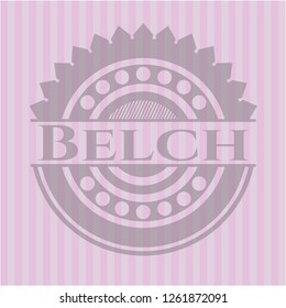 Belch badge with pink background