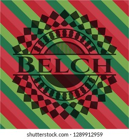 Belch christmas colors style emblem.