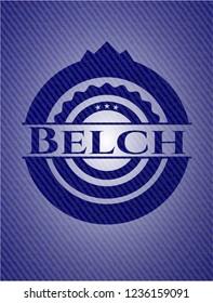 Belch with denim texture