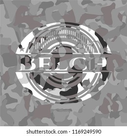 Belch on grey camo texture