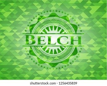 Belch realistic green mosaic emblem