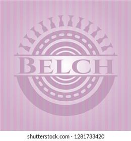 Belch retro pink emblem