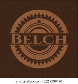 Belch retro style wooden emblem