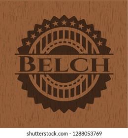 Belch vintage wooden emblem