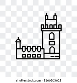 Belem Tower vector icon isolated on transparent background, Belem Tower logo concept