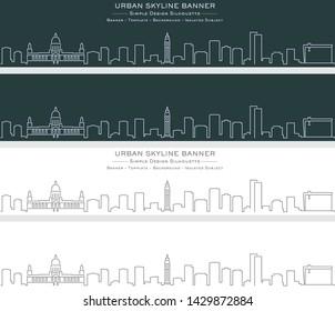 Belfast Single Line Skyline Profile Banner