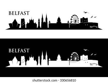 Belfast skyline - vector illustration