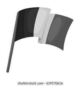 The Belgian flag.The dark Belgian wolf. Belgium single icon in monochrome style vector symbol stock illustration.