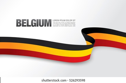 Belgian flag on a white background