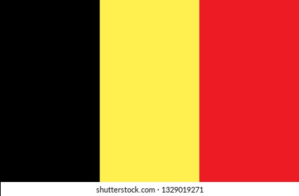 Belgian flag. Simple vector Belgium flag
