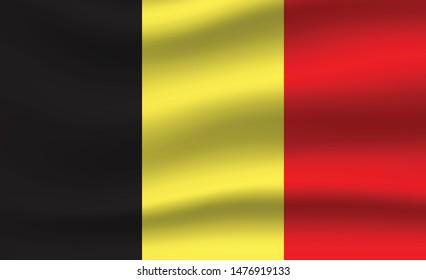 Belgian flag. Simple vector Belgium flag