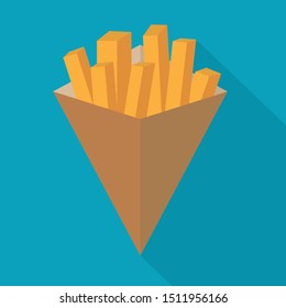 belgian fries or french fries icon- vector illustration