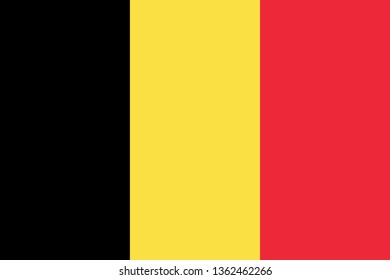 Belgian or Kingdom of Belgium BE official national flag sign icon flag icon