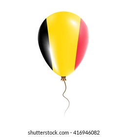 Belgium balloon with flag. Bright Air Ballon in the Country National Colors. Country Flag Rubber Balloon. Vector Illustration.