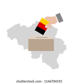 Belgium Elections Vote Box Vector Work