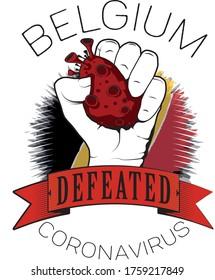 belgium europe defeated coronavirus vector cool image printable color flag
