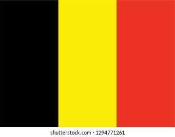 Belgium flag black gold red