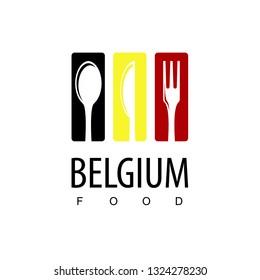 Belgium Food, Restaurant Logo