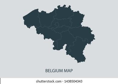 Belgium Map Images, Stock Photos & Vectors | Shutterstock