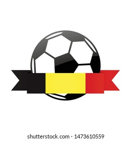 Belgium national flag football . Belgium football championship banner. Simple vector Belgium flag