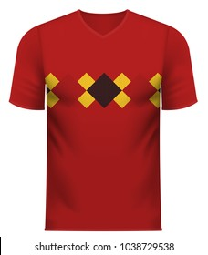 Belgium national soccer team shirt in generic country colors for fan apparel.