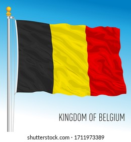 Belgium official national flag, vector illustration, european union