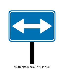 Belgium Pass on Either Side Traffic Sign