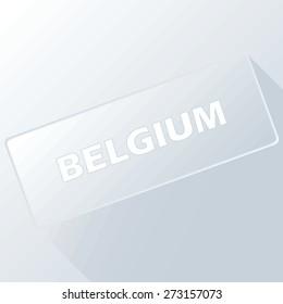 Belgium unique button for any design. Vector illustration