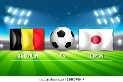 Belgium VS Japan template illustration