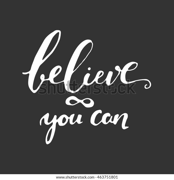 Believe Yourself Inspirational Motivation Quote Fitness Stock Vector Royalty Free 463751801