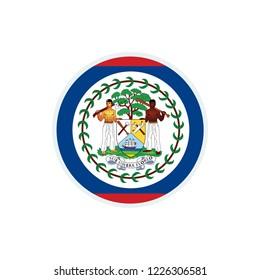 Belize flag. Belize circle flag.
