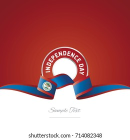 Belize Independence Day ribbon logo icon