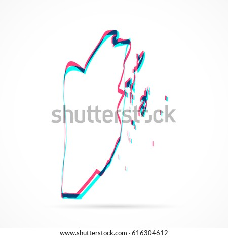 Belize Map Hand Drawn Blue Pink Stock Vector (Royalty Free ...