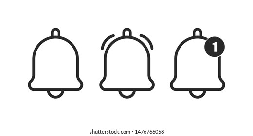 bell alarm icon for computer website and mobile apps