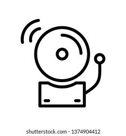 Bell Alarm Icon Vector Illustration Logo Template