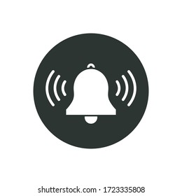 bell flat icon, vector illustration