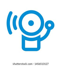 Bell icon. alarm sign isolated sign symbol vector illustration - vector