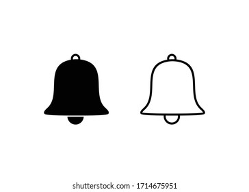 bell icon, Alarm bell sign and symbol vector design