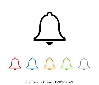 bell icon Flat, notification Flat icon symbols vector