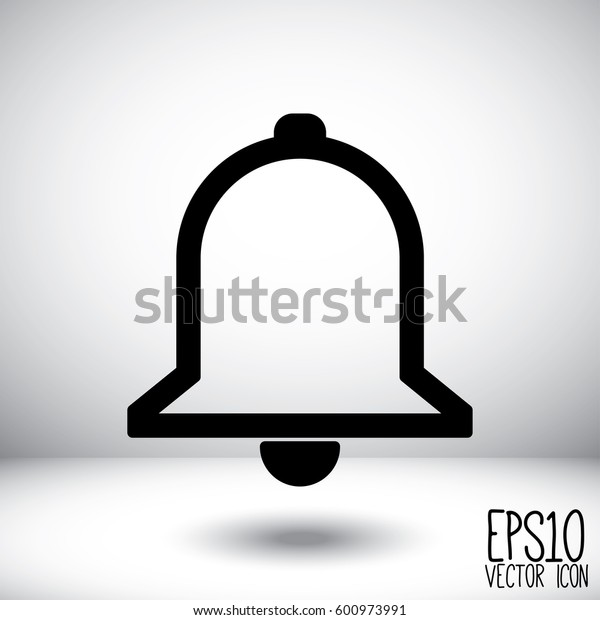 Bell Icon. Flat style for graphic and web design, Modern simple vector sign. Internet concept. Trendy symbol for website design web button, mobile app.