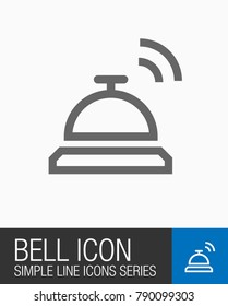 Bell icon, Hotel or travel sign