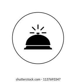 Bell icon, logo